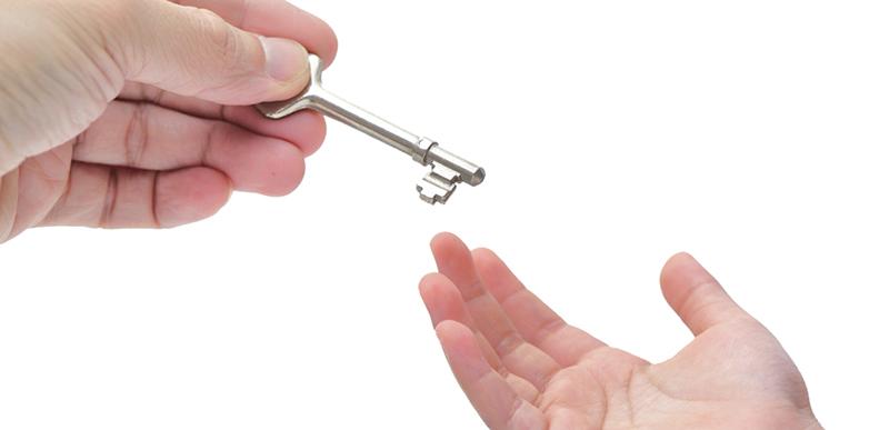 Передача ключа